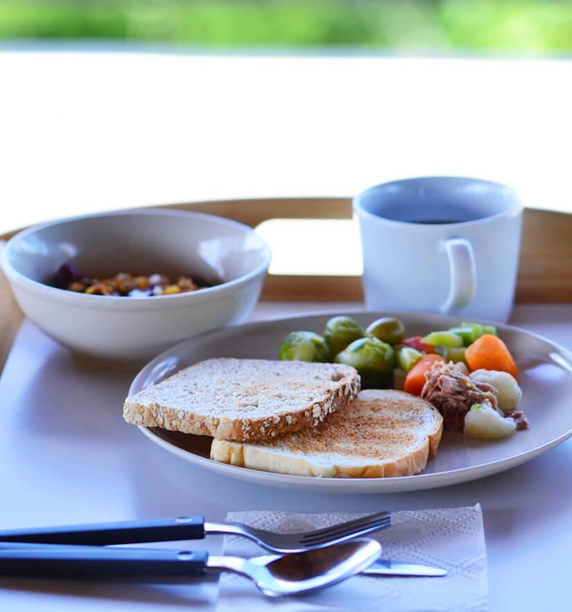 パラオのホテル、ガーデンパレスの朝食③