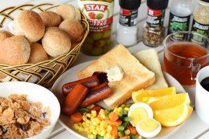 パラオガーデンパレスの朝食一覧