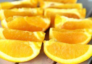 パラオガーデンパレスの朝食で食べられるカットオレンジ