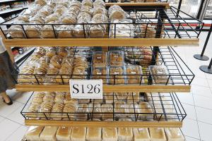 パラオWCTCのパン売り場