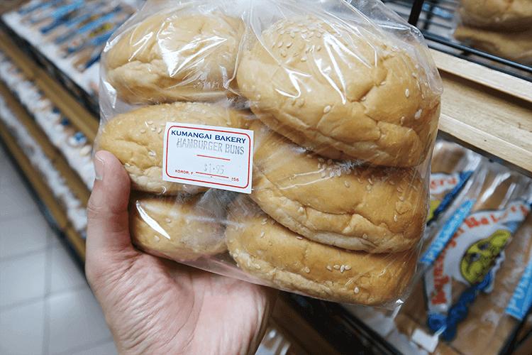 パラオWCTCのハンバーガー用パン