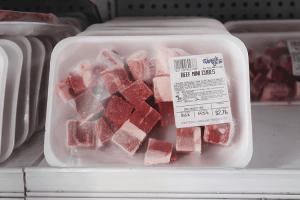パラオWCTCの冷凍サイコロ牛肉