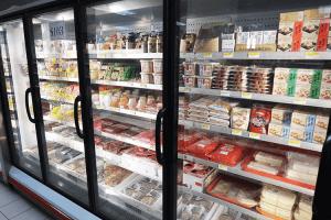 パラオWCTCの冷凍日本食品コーナー
