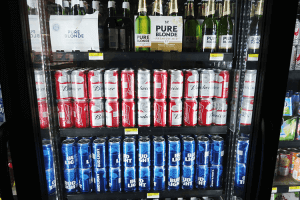 パラオWCTCのビールコーナー